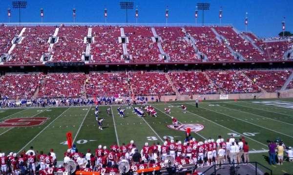 Stanford Stadium, Abschnitt: 112, Reihe: S, Platz: 12