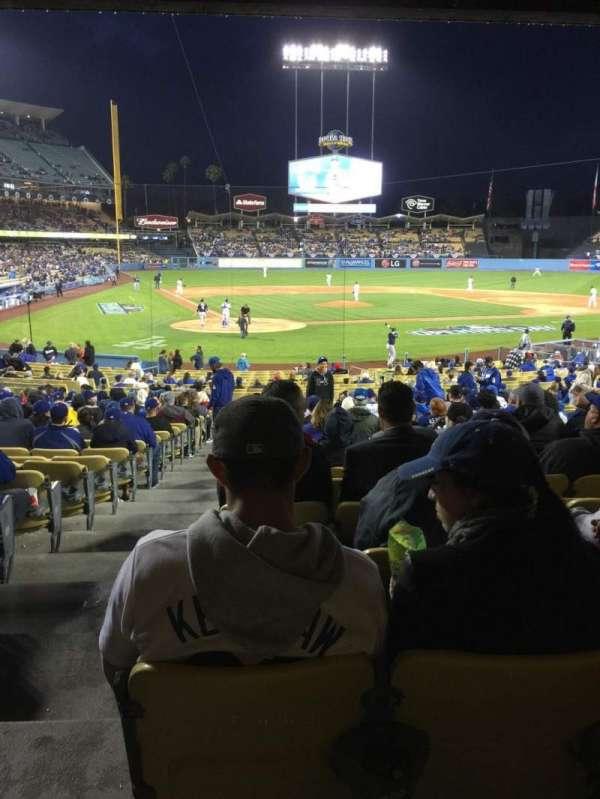 Dodger Stadium, Abschnitt: 8FD, Reihe: W, Platz: 1