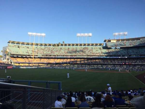 Dodger Stadium, Abschnitt: 53FD, Reihe: R, Platz: 7