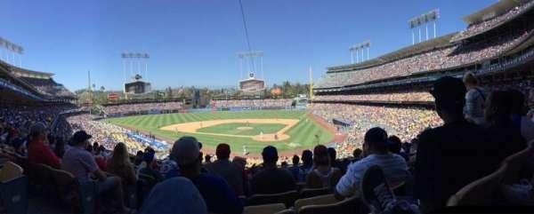 Dodger Stadium, Abschnitt: 111lg, Reihe: J, Platz: 4