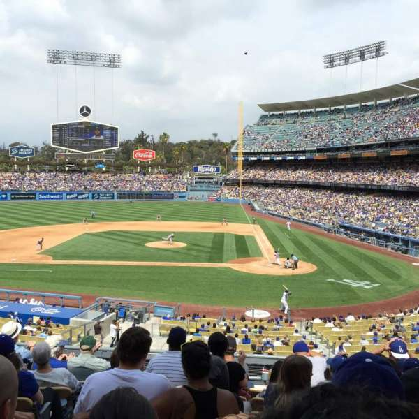 Dodger Stadium, Abschnitt: 121LG, Reihe: H, Platz: 5