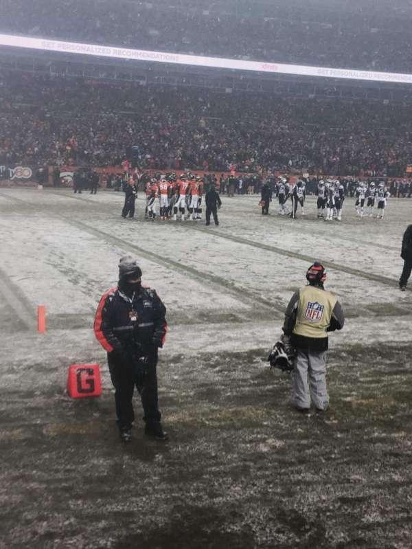 Broncos Stadium at Mile High, Abschnitt: 109, Reihe: 1, Platz: 11