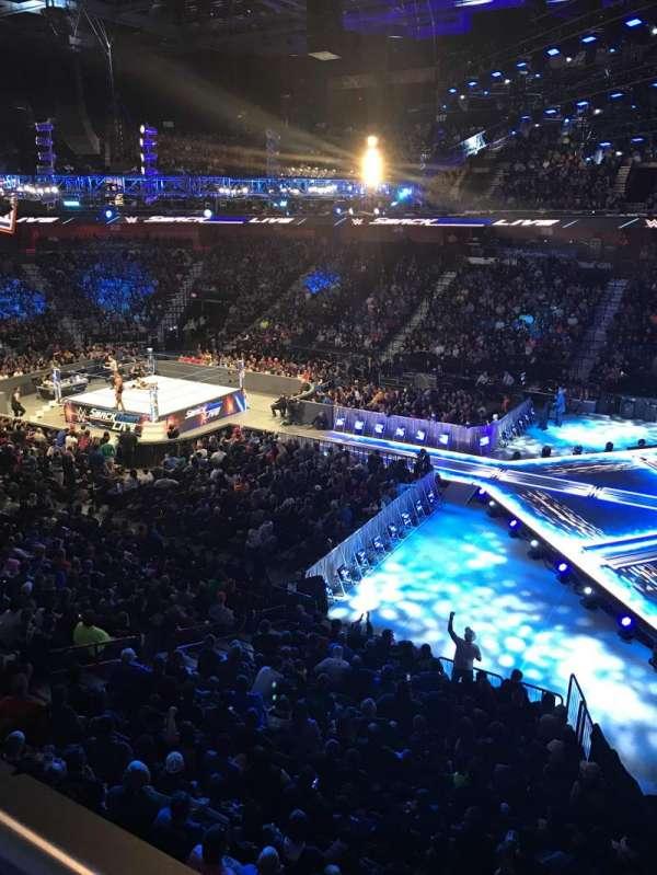 Mohegan Sun Arena, Abschnitt: 105, Reihe: A, Platz: 3