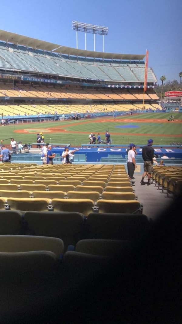 Dodger Stadium, Abschnitt: 18FD, Reihe: T, Platz: 8