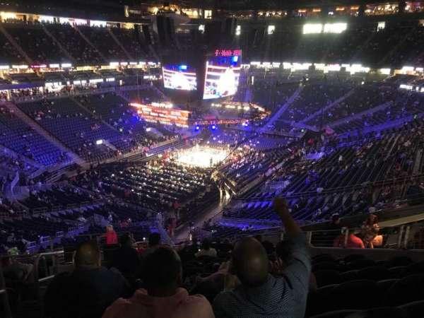 T-Mobile Arena, Abschnitt: 105, Reihe: P, Platz: 1