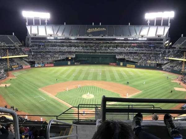 Oakland Alameda Coliseum, Abschnitt: 316, Reihe: 8, Platz: 25