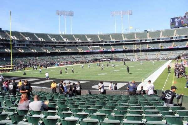 Oakland Alameda Coliseum, Abschnitt: 103, Reihe: 17, Platz: 3