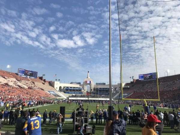 Los Angeles Memorial Coliseum, Abschnitt: 15L, Reihe: 7, Platz: 5