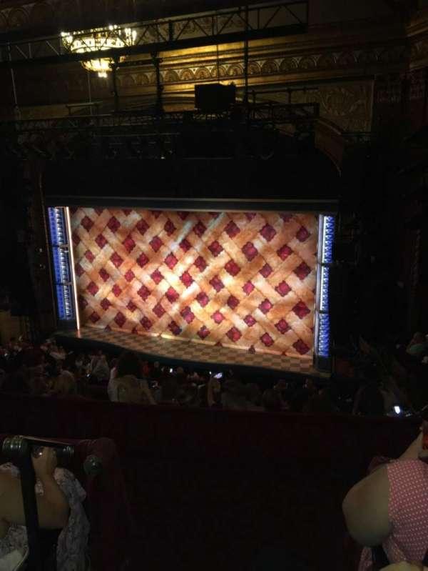 Brooks Atkinson Theatre, Abschnitt: Rear mezzanine Right, Reihe: G, Platz: 2