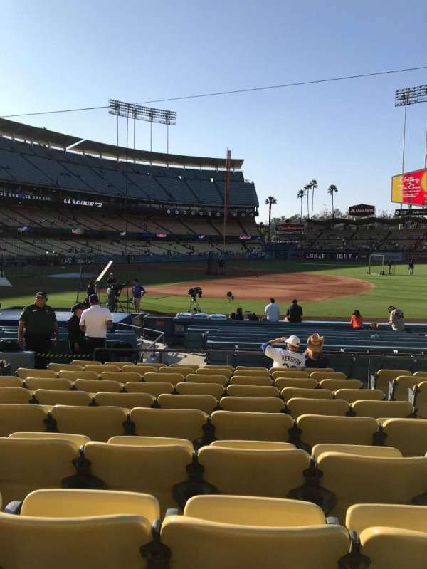 Dodger Stadium, Abschnitt: 26FD, Reihe: K, Platz: 8