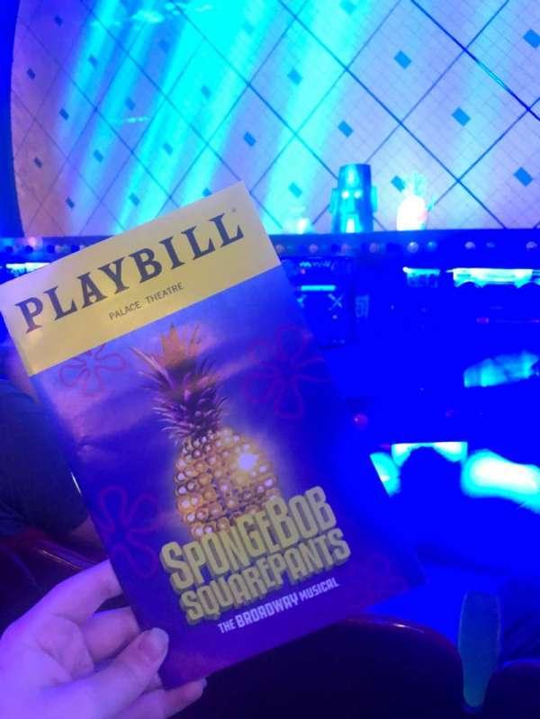 Palace Theatre (Broadway), Abschnitt: Orchestra, Reihe: C, Platz: 108