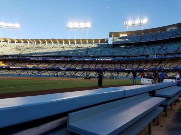 Dodger Stadium, Abschnitt: 37BL, Reihe: 1, Platz: 1