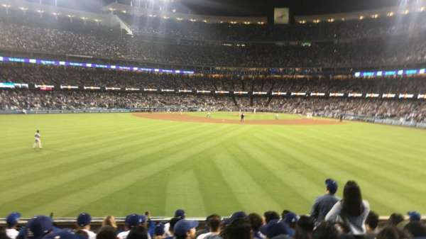 Dodger Stadium, Abschnitt: 313PL, Reihe: L, Platz: 6