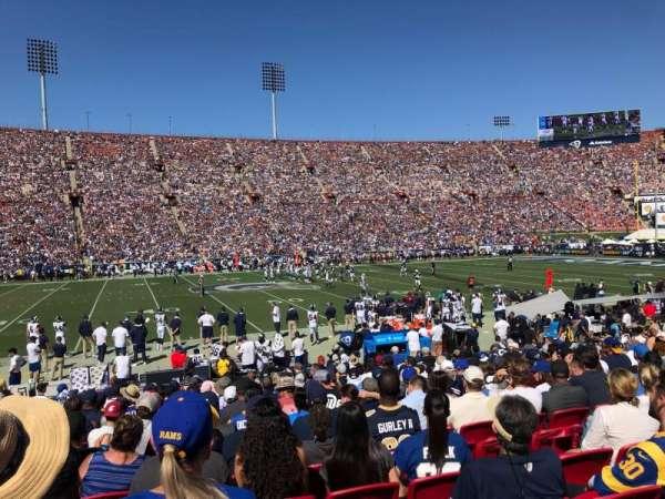 Los Angeles Memorial Coliseum, Abschnitt: 8H, Reihe: 17, Platz: 114
