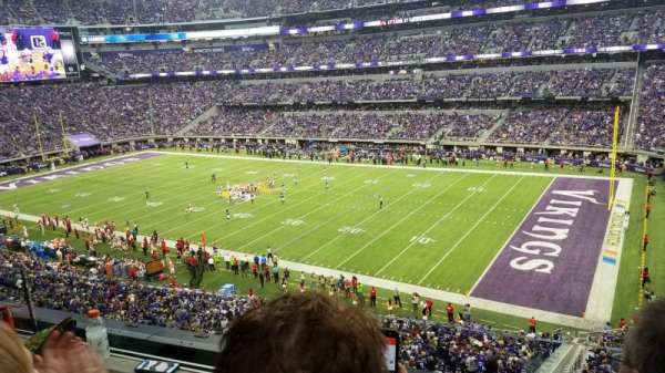 U.S. Bank Stadium, Abschnitt: 206, Reihe: 2, Platz: 3