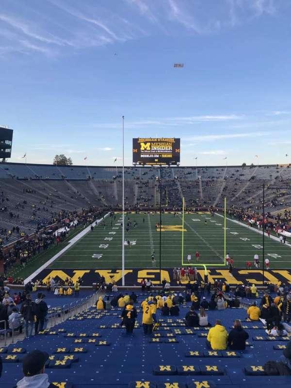 Michigan Stadium, Abschnitt: 13, Reihe: 58, Platz: 20