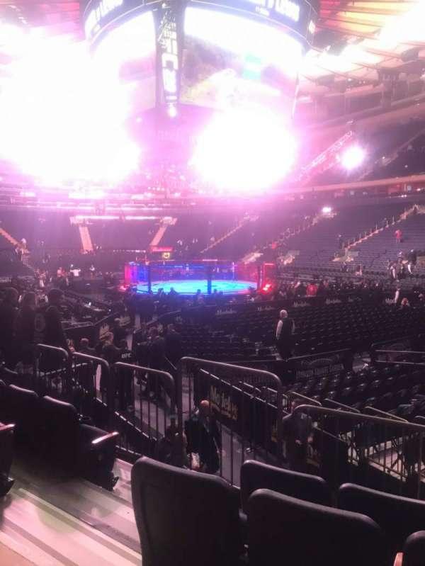 Madison Square Garden, Abschnitt: 110, Reihe: 7, Platz: 3