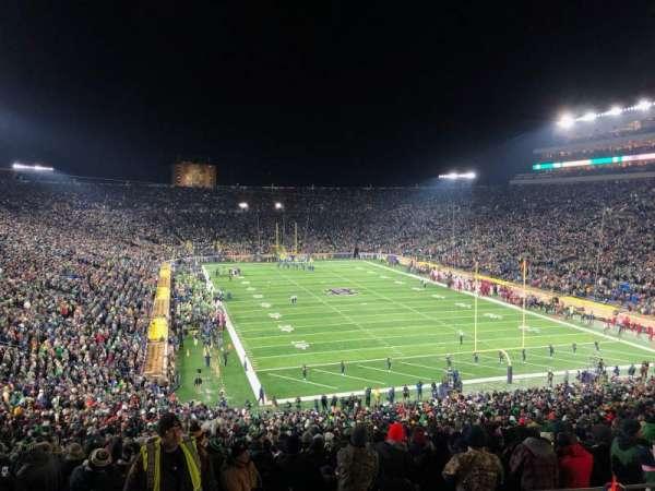 Notre Dame Stadium, Abschnitt: 121, Reihe: 7, Platz: 13