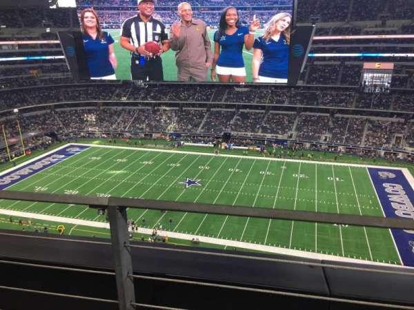AT&T Stadium, Abschnitt: 410, Reihe: 1, Platz: 9