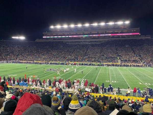 Notre Dame Stadium, Abschnitt: 8, Reihe: 33, Platz: 15