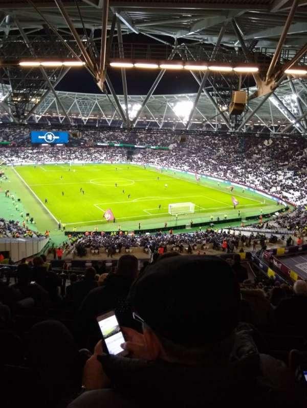 London Stadium, Abschnitt: 218, Reihe: 65