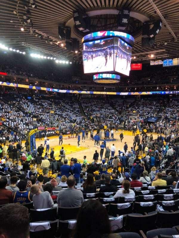 Oakland Arena, Abschnitt: 105, Reihe: 14, Platz: 18
