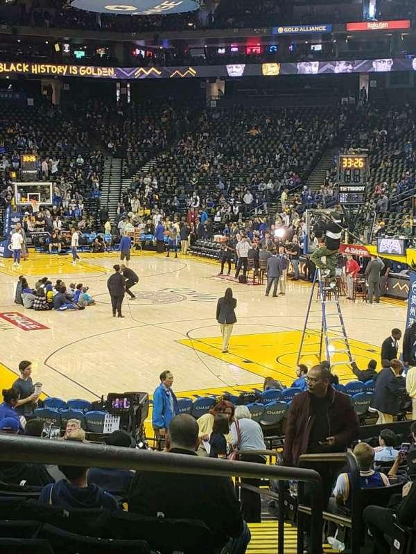 Oakland Arena, Abschnitt: 109, Reihe: 13, Platz: 5-7