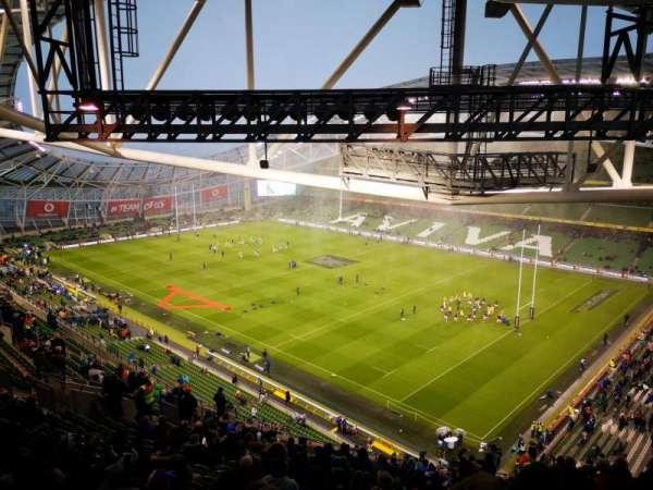 Aviva stadium , Abschnitt: 520, Reihe: X, Platz: 17