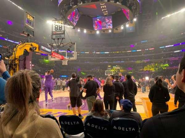 Staples Center, Abschnitt: 115, Reihe: B, Platz: 4
