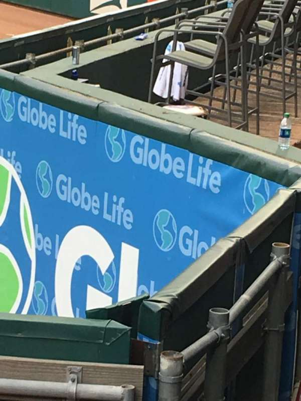 Globe Life Park in Arlington, Abschnitt: 47, Reihe: 1, Platz: 5