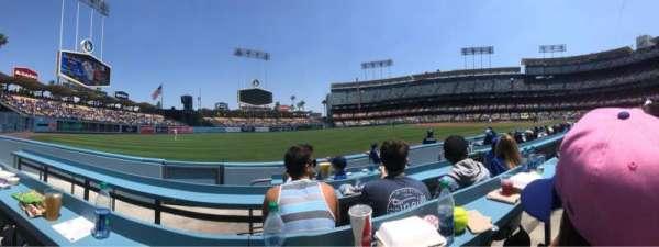 Dodger Stadium, Abschnitt: 45BL, Reihe: CC, Platz: 4