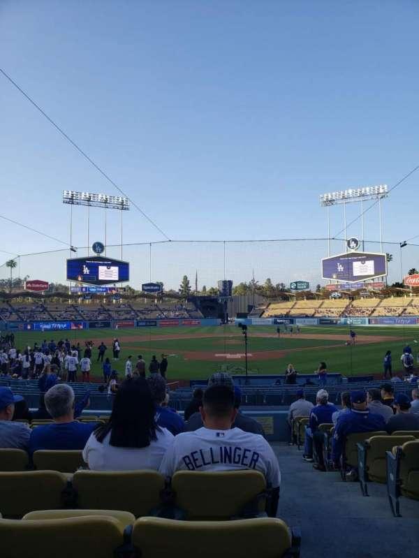 Dodger Stadium, Abschnitt: 1FD, Reihe: N, Platz: 1