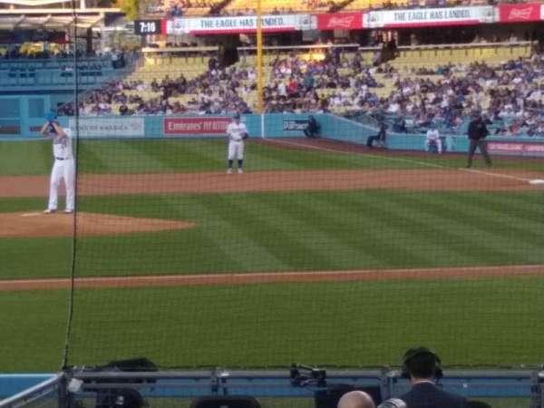 Dodger Stadium, Abschnitt: 15FD, Reihe: G, Platz: 6