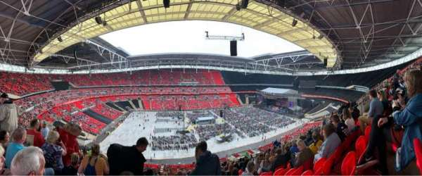 Wembley Stadium, Abschnitt: 503, Reihe: 62, Platz: 64