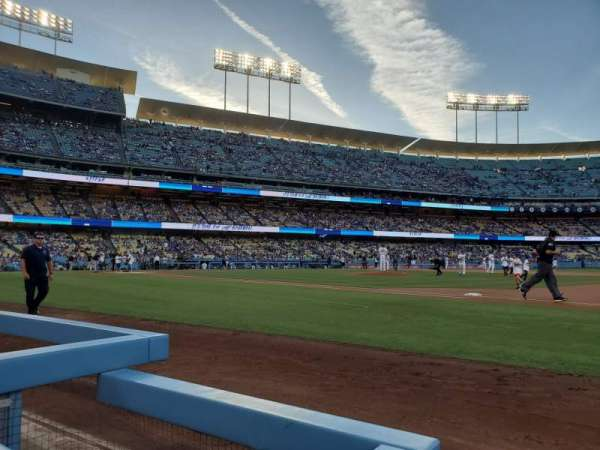 Dodger Stadium, Abschnitt: 26BL, Reihe: 1, Platz: 1