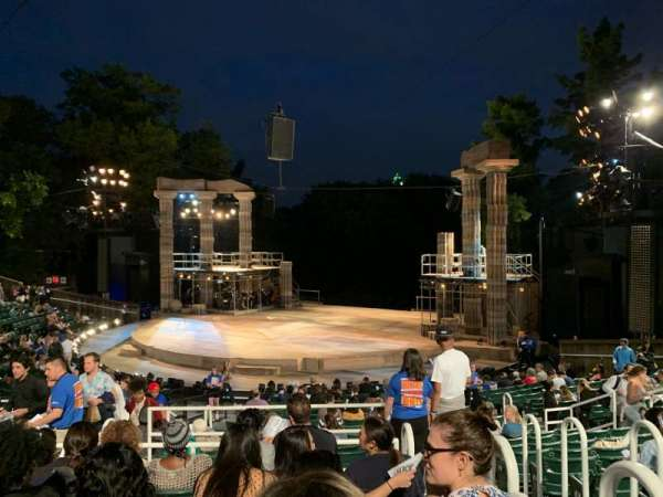 The Delacorte Theater in Central Park, Abschnitt: H, Reihe: S, Platz: 802