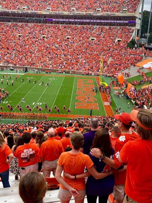 Memorial Stadium, Clemson, Abschnitt: UB, Reihe: M, Platz: 20