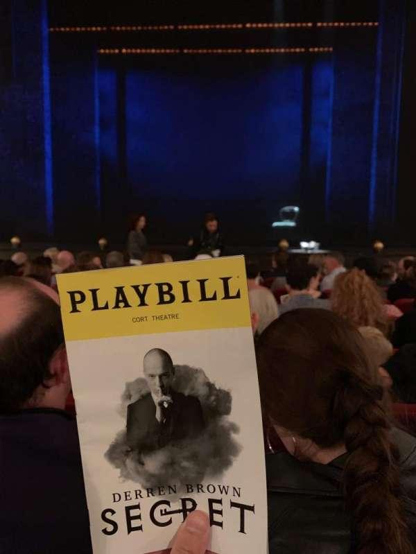 Cort Theatre, Abschnitt: Orchestra C, Reihe: G, Platz: 108