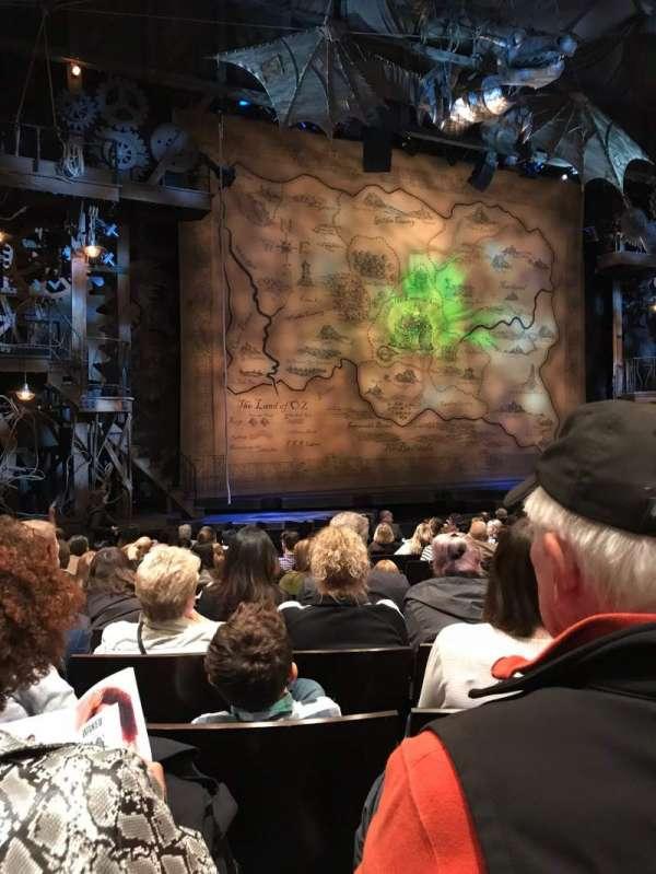 Gershwin Theatre, Abschnitt: Orchestra L, Reihe: K, Platz: 13