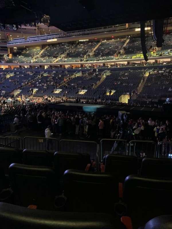 Madison Square Garden, Abschnitt: 109, Reihe: 8, Platz: 12