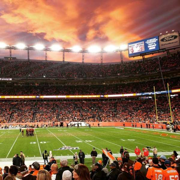 Empower Field at Mile High Stadium, Abschnitt: 122, Reihe: 14, Platz: 3