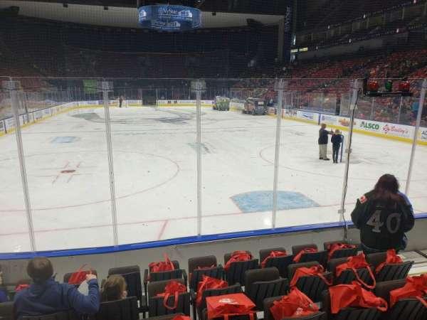 VyStar Veterans Memorial Arena, Abschnitt: 108, Reihe: F