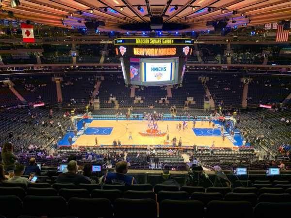 Madison Square Garden, Abschnitt: 211, Reihe: 8, Platz: 7