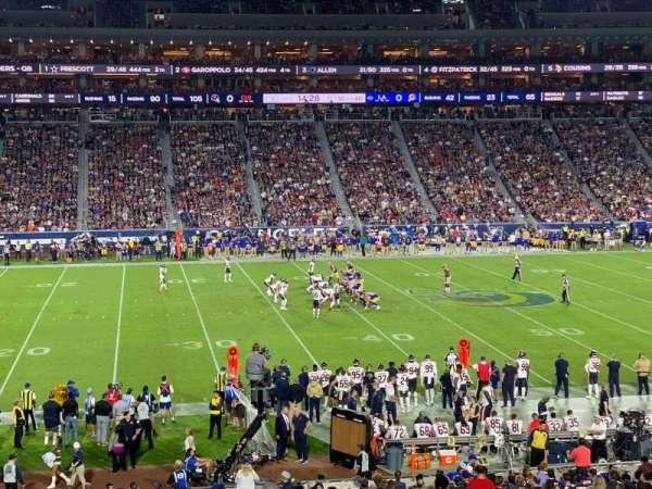 Los Angeles Memorial Coliseum, Abschnitt: 123A, Reihe: 34, Platz: 6