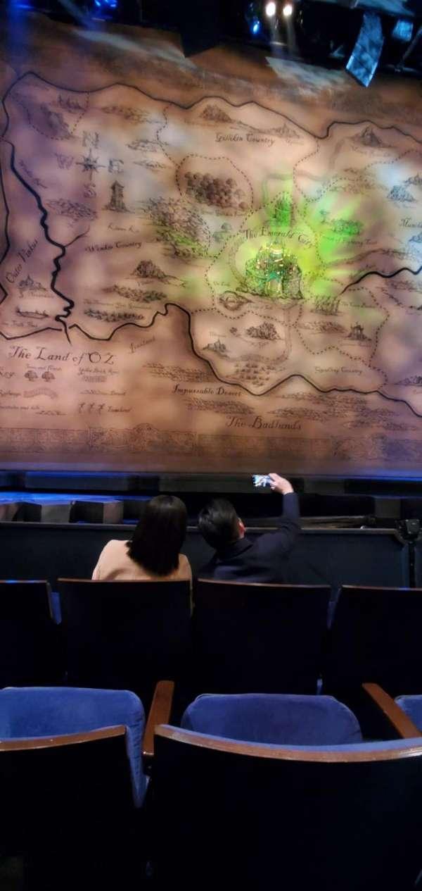 Gershwin Theatre, Abschnitt: Orchestra C, Reihe: dd, Platz: 106