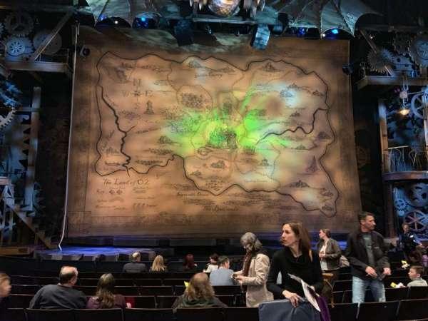 Gershwin Theatre, Abschnitt: Orchestra C, Reihe: F, Platz: 106