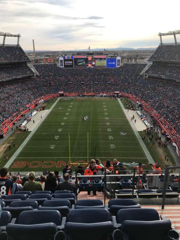 Empower Field at Mile High Stadium, Abschnitt: 521, Reihe: 21, Platz: 2