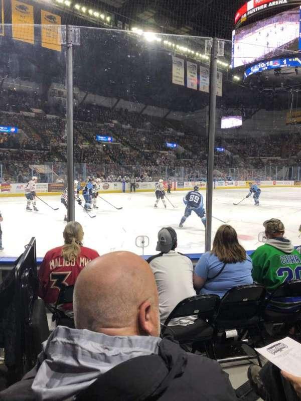 UW-Milwaukee Panther Arena, Abschnitt: 128, Reihe: 3