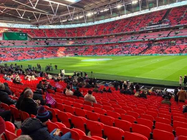 Wembley Stadium, Abschnitt: 140, Reihe: 24, Platz: 206