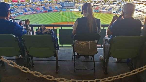 Dodger Stadium, Bereich: RS1, Reihe: W, Platz: 1-4